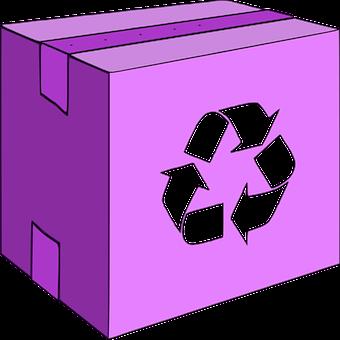 Box, Carton, Carton Box, Lilac Box