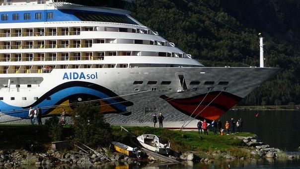 Eidfjord Norway, Cruise Ship, Fjord, Ship, Cruise
