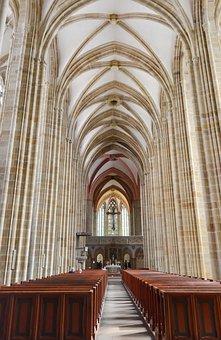 Cathedral, Church, Interior, Architecture, Columns