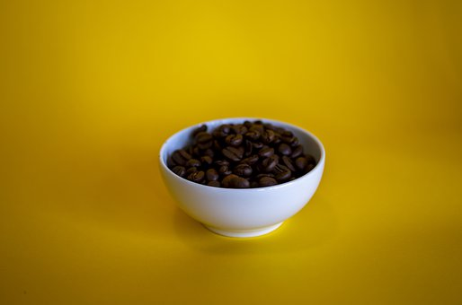 Coffee, Beans, Ingredient, Roasted, Isolated, Food