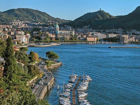 Lake, Lake Como, City, Italy, Lombardy, Tourism