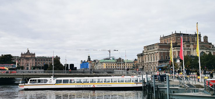 Boat, Tour, Sightseeing, City, Travel, Sweden, Tourism