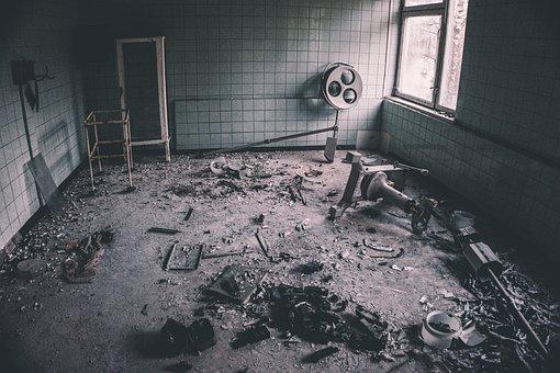 Ruins, Destruction, Hospital, Abandoned, Urban