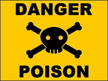 Danger, Poison, Skull, Yellow Skull