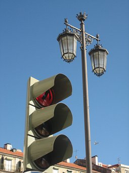 Lisbon, Antique Lamp, Semaphore