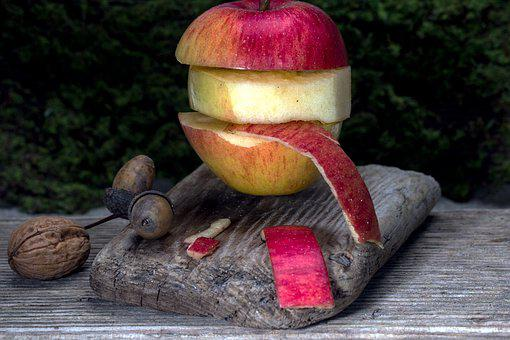 Apple, Fruit, Red, Apple Peel, Nuts
