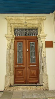 Door, House, Entrance, Wood, Neoclassic, Architecture