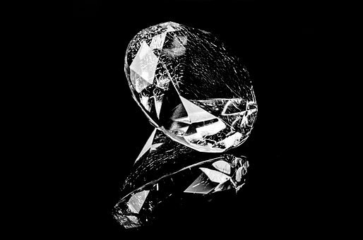 Diamond, Black, Rich, Brilliant, Crystal, Background