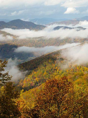 Fall Colors, Autumn, North Carolina, Blue Ridge Parkway