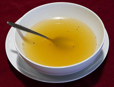 Clear Broth, Soup, Bowl Of Soup, Chicken Broth, Broth