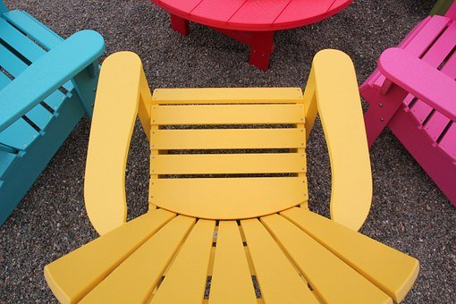 Chair, Lawn Furniture, Colorful, Furniture, Summer
