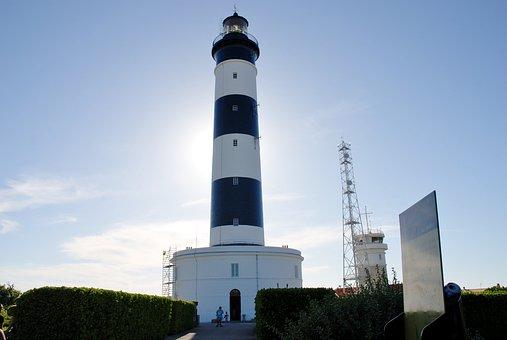 Oléron, Chassiron Lighthouse, France, Sea, Semaphore
