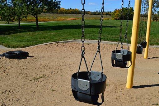Swings, Swing Set, Playground, Childhood, Park