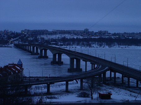 Kolomna, Bridge, City, Russia, Landscape, River