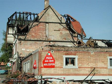 Burned Down, House, Pizzeria, Ruin, Destroyed