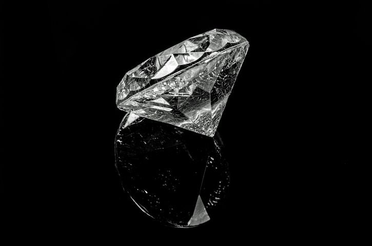 Diamond, Black, Rich, Brilliant, Crystal, Background