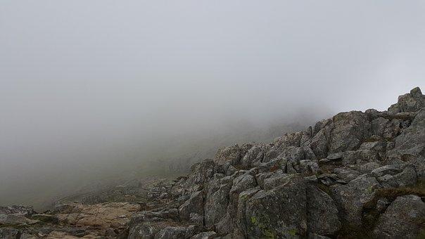 Fog, Rocks, Scary, Mountain