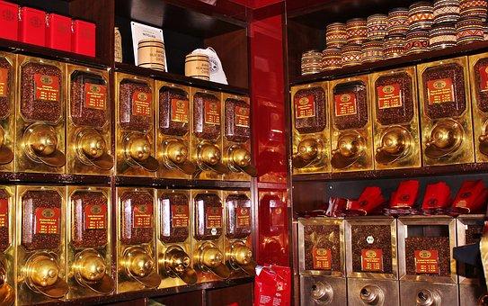 Tea Shop, Box Shelf, Fragrance Oasis, Coffee