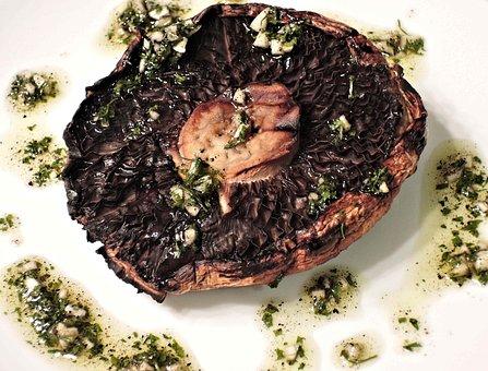 Bbq Portobello Mushroom, Garlic, Oil, Parsley, Spices