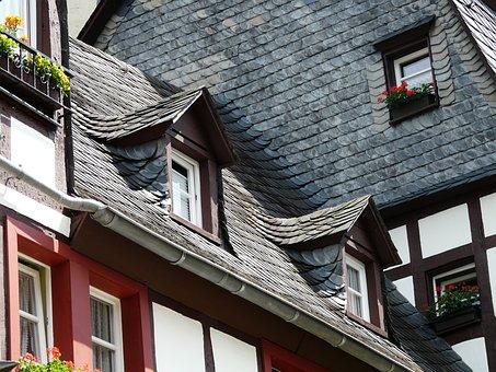 Roof, Slate Roof, Gable, Giebelfenster, Fachwerkhäuser