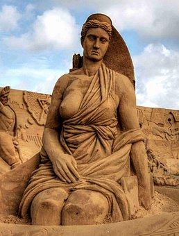 Artemis, Pillar, Goddess, Art, Statue, Greek, Sand