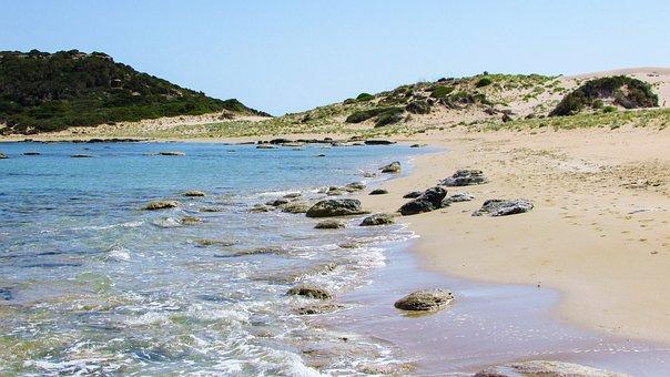Cyprus, Karpasia, Golden Beach, Blue, Coast, Scenery