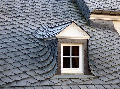 Dormer, Slate, Roof, Window, Grey, Architecture