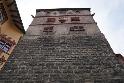 Rottweil, Germany, Facade, Home, Historically, Window