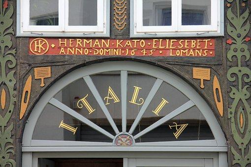 Truss, Fachwerkhaus, Building, Home, Window, Font
