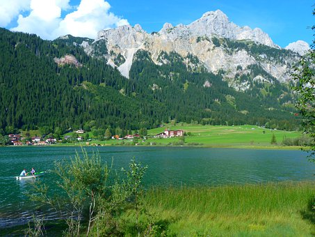 Haldensee, Lake, Mountains, Water, Landscape, Nature