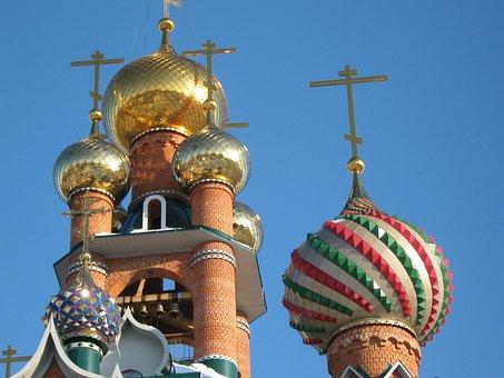 Voronezh, Russia, Church, Landmark, Intricate, Towers