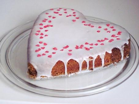 Cake, Heart, Love Cake, Heart Cake, Love, Ornament, Eat