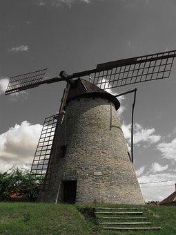 Mill, Gabonaőrlő, Monument, Sáfrik Windmill, Broken