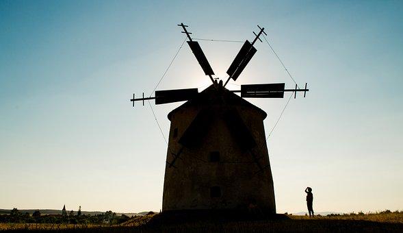 Mill, Windmill, Old Windmill, Monument