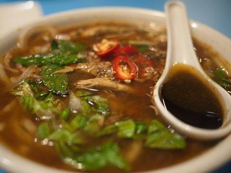 Penang, Laksa, Prawn Paste, Mint Leaves, Chilli, Food