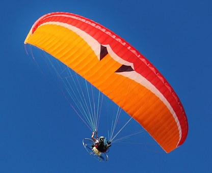 Motor Gliders, Paraglider, Fly, Screen, Aircraft