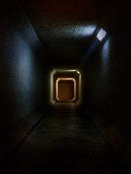 Tunnel, Spooky, Mysterious, Mystic, Dark, Underground