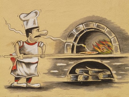 Pizza Maker, Pizzeria, Pizza Oven, Chef, Pizza, Bake