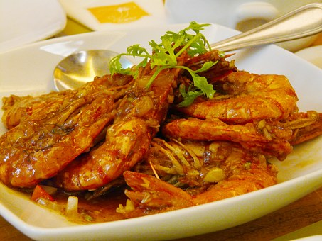 Prawns, Food, Delicious, Ayala Center, City, Mall