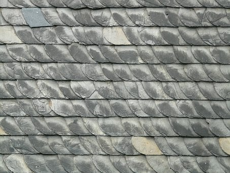 Slate, Slate Roof, Roof, Skewness, Stone, Grey, Dark