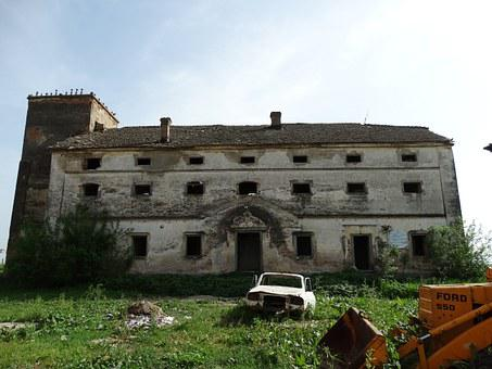 Ruin, G, Old, Degraded, Mansion, Barn, Nada, Car