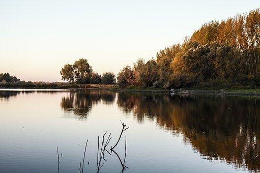 Fishing, River, Body Of Water, Beach, Russia
