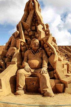 Sand Sculpture, Sand, Sculpture, Artwork, Sand Picture