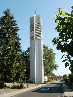 Dreifaltigkeitskirche, Sandhausen, Bell, Tower, Church