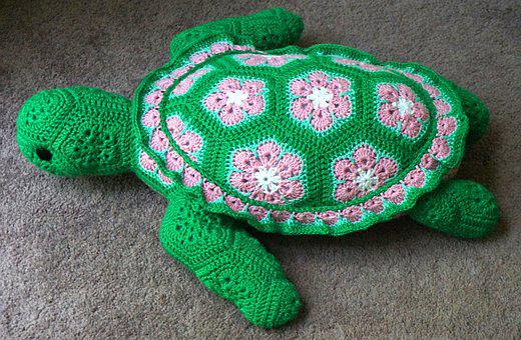 Crocheted Sea Turtle, Sea Turtle, Crochet, Craft, Yarn