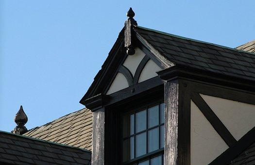 Dormer Window, Sloping Roof, Gable, Slate, Tudor Style