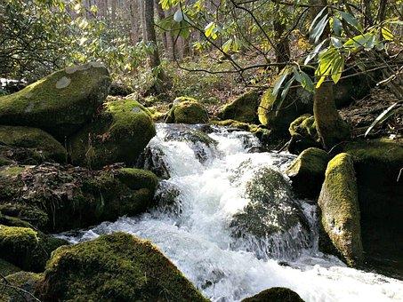 Smoky Mountains, Water, Rapids, Nature, Smoky, River