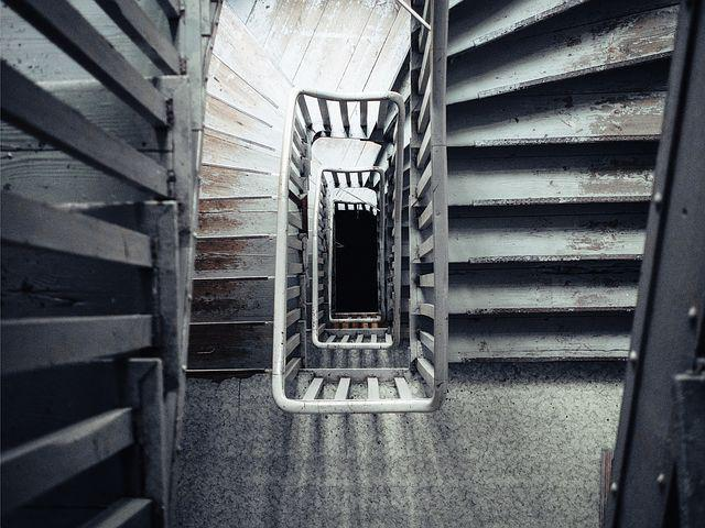 Stairs, Looking Down, House, Walking, Scary, Creepy