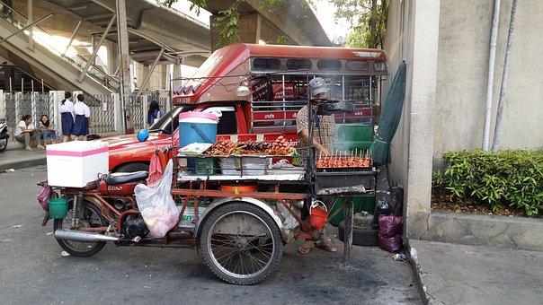 Street Food, Food Stall, Bangkok, Thailand, Eat