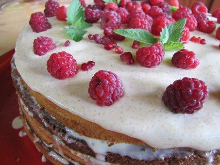 Cake, Food, Pie, Sponge Cake, Berry, Sweets, Baking